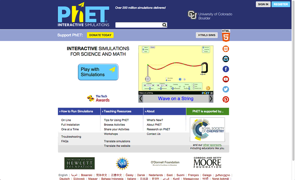 PhET Interactive Simulations Reviews | edshelf
