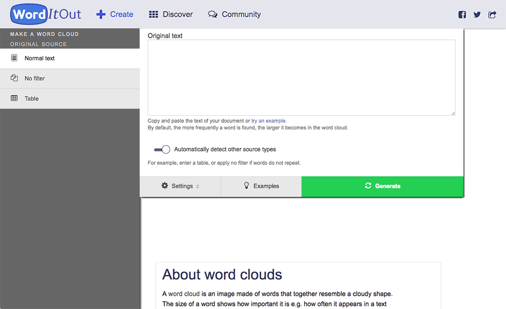 make a word cloud