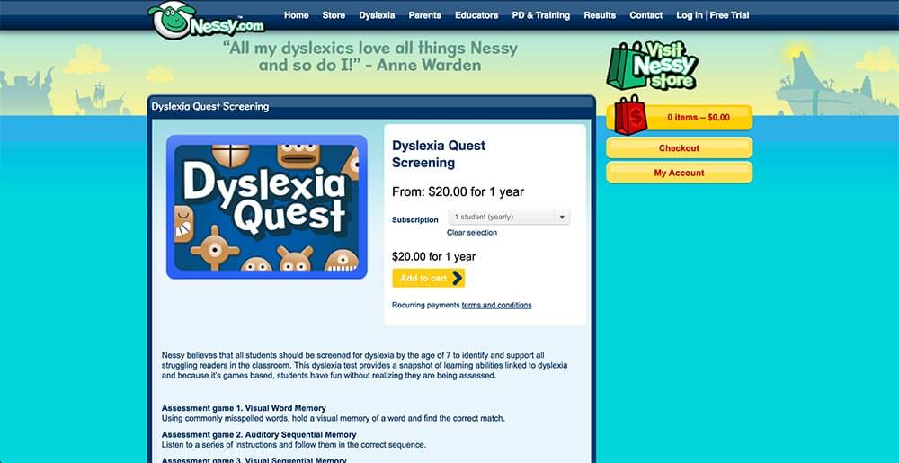 Dyslexia Quest Screening Reviews | edshelf
