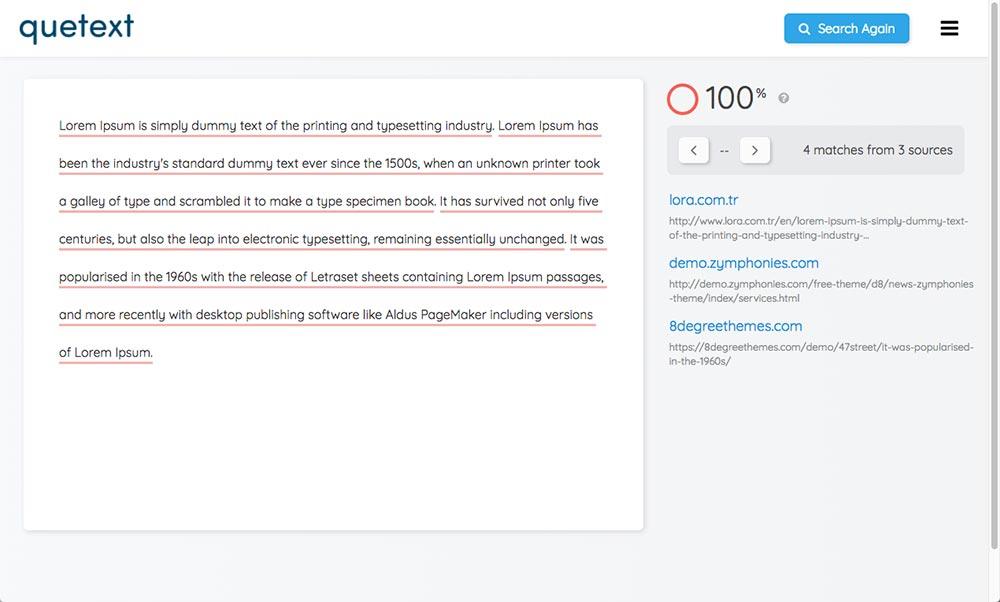 quetext plagiarism checker review