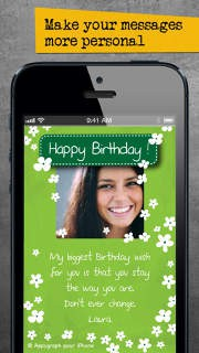 Appygraph ECards Send Personalized Birthday Greeting Love Photo Cards By Messaging Apps Facebook Email Or Postal Mail