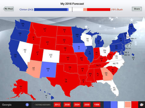 Presidential Election Interactive Map Reviews Edshelf - Us electoral interactive map