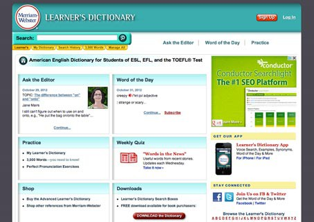 Merriam-Webster's Learner's Dictionary Reviews | edshelf