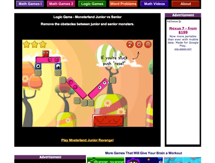 math worksheet : math playground reviews  edshelf : Math Playground Logic Games