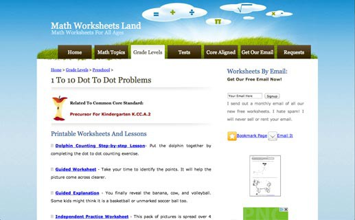 Math Worksheets Land Reviews – Electronic Math Worksheets