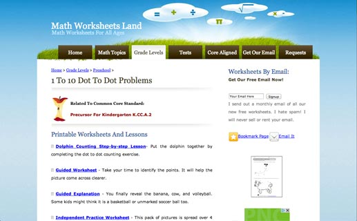 Printables Math Worksheets Land math worksheets land reviews edshelf land