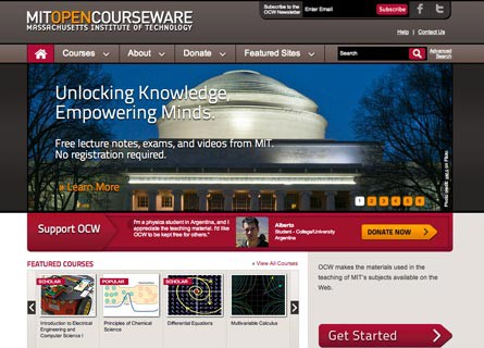 mit opencourseware Mit opencourseware mit opencourseware (ocw) makes the mit course materials used in almost all undergraduate and graduate subjects available on the web, free of.