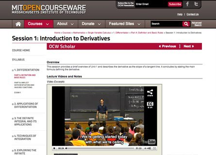opencourseware Founded in 1965, the university of california, irvine combines the strengths of a major research university with the bounty of an incomparable southern.