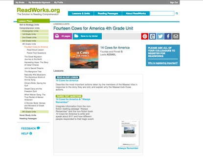 ReadWorks Edshelf
