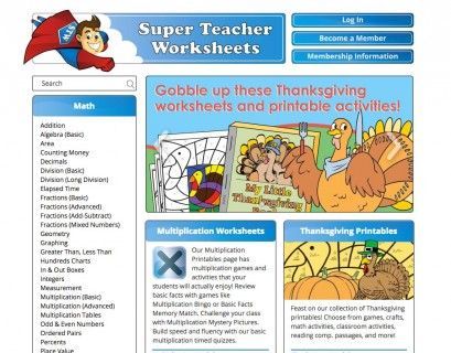 Super Teacher Worksheets - edshelf
