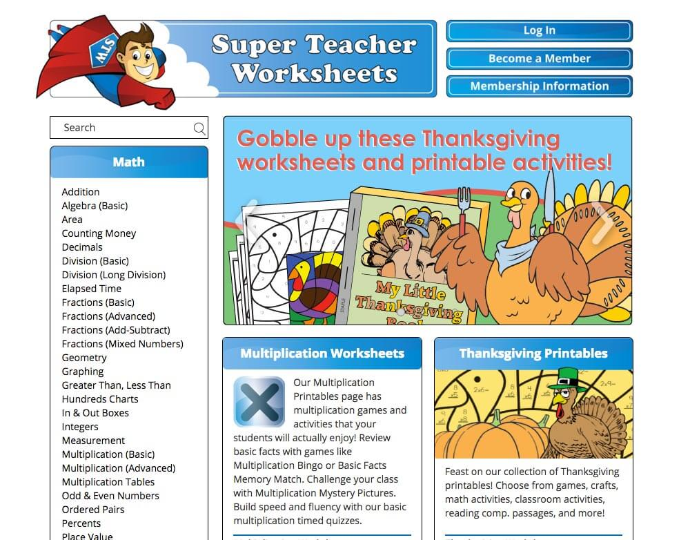 Super Teacher Worksheets Reviews Edshelf